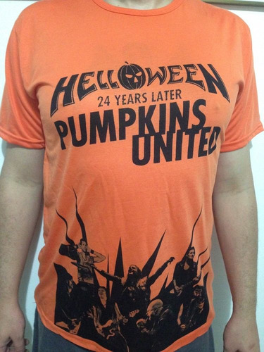 camiseta helloween pumpkins united tour 2017 heavy metal