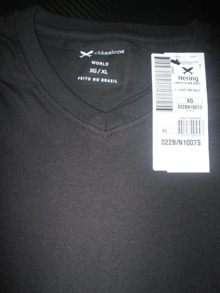 cf65f03a6 camiseta hering básica masculina - decote v. Carregando zoom.