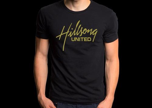 camiseta hilsong united camisa rock gospel qualidade algodão