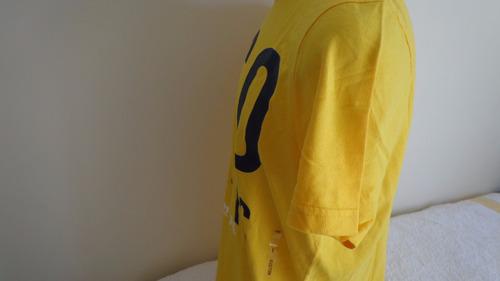 camiseta hollister amarelo  original tam g  pronta entrega