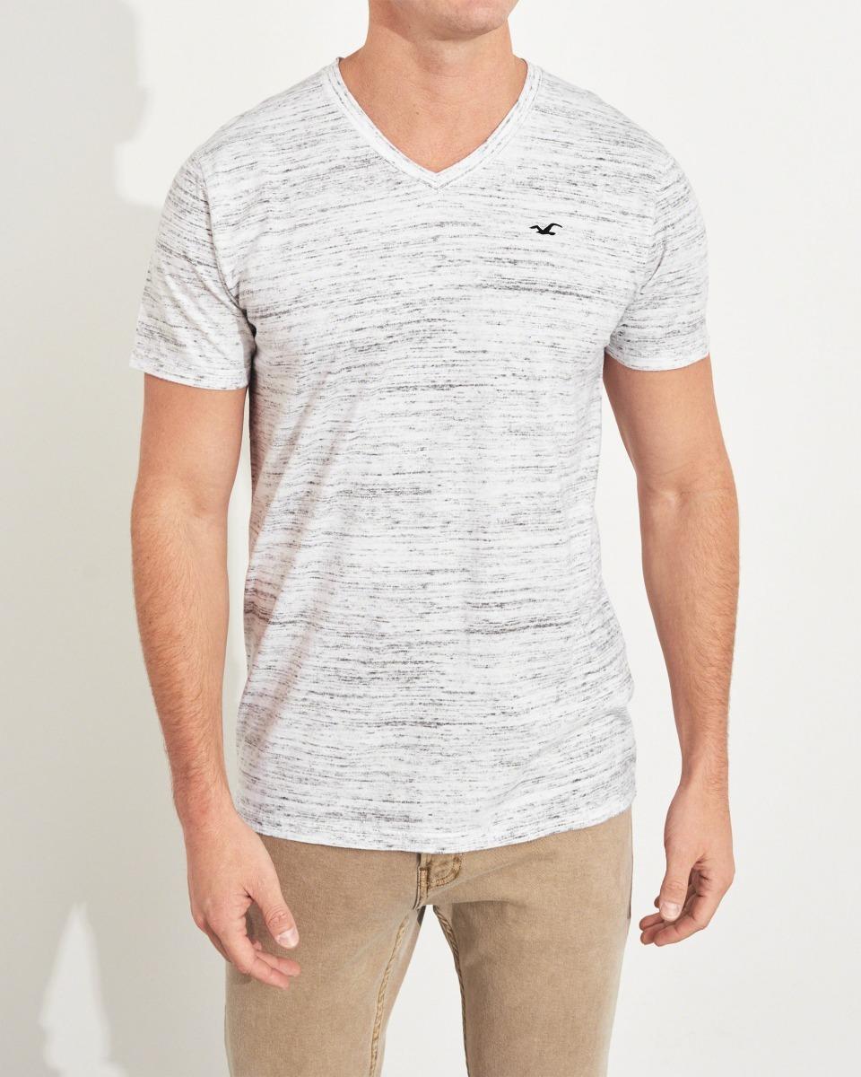 78420e2c68 camiseta hollister cinza importada gola v 100% original. Carregando zoom.