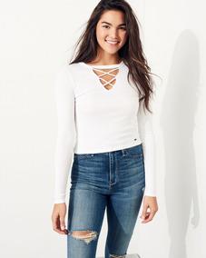 6d0cac1e1 Casaco Tricot Intuição - Camisetas Manga Longa para Feminino Branco ...