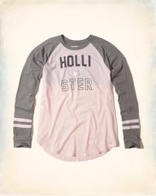 69449c75ea1ae Blusa Feminina Hollister Estampada - Camisetas e Blusas com o Melhores  Preços no Mercado Livre Brasil