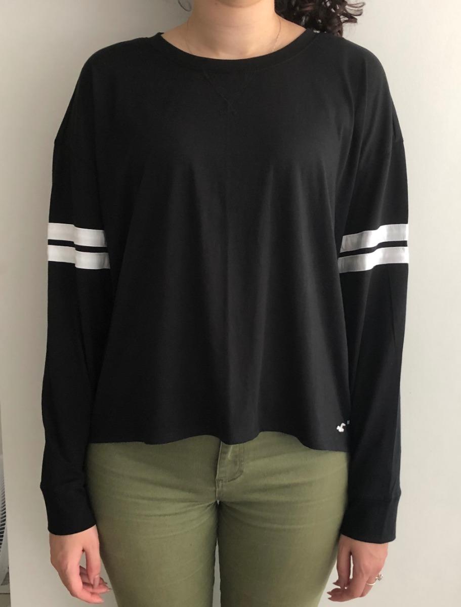 821ed6477a camiseta hollister feminina preta branca 100% importada m pg. Carregando  zoom.