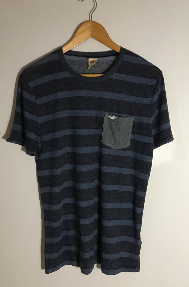 Camiseta Hollister Listrada - Original E Importada Dos Eua - R  99 ... 0a0e8e888a