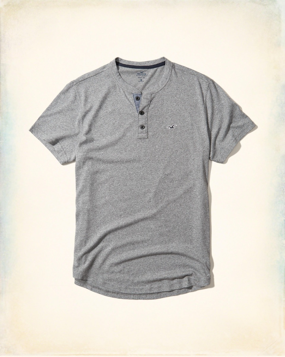 1a23f701ca ... camiseta hollister masculina botoes manga curta azul branca. Carregando  zoom.