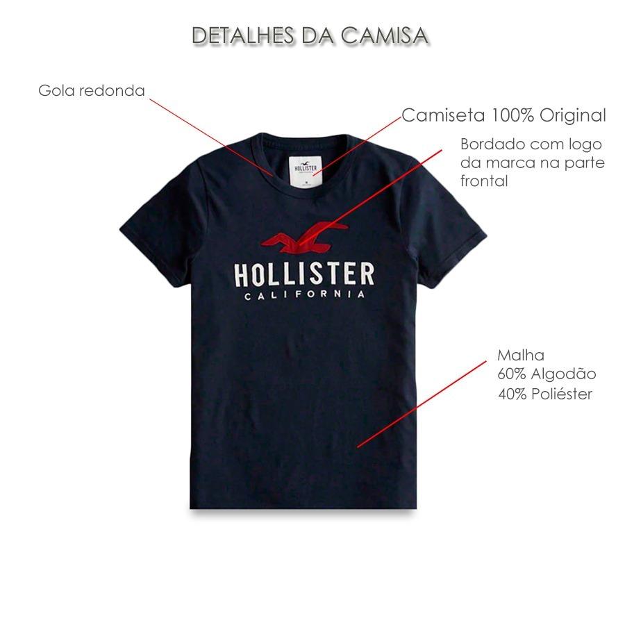 camiseta hollister masculina muscle fit graphic tee eua imp. Carregando  zoom. 7a220d1d201f2