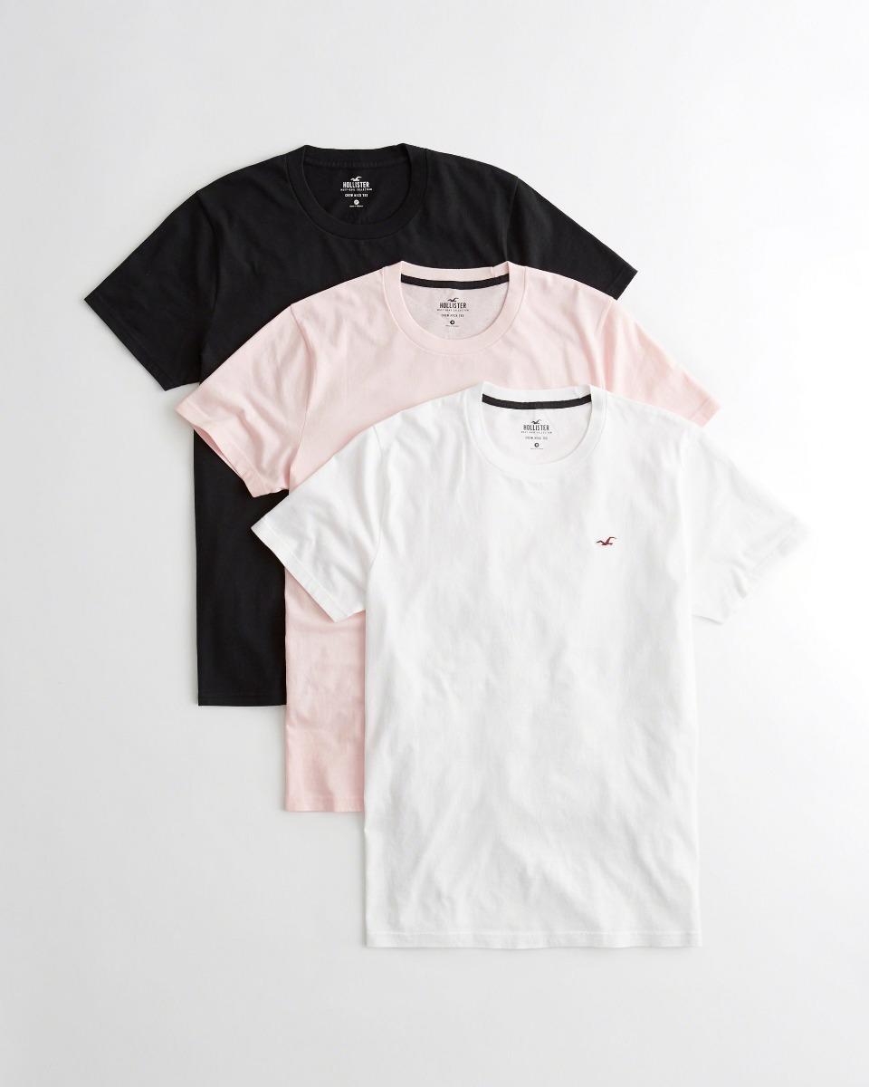 bea9e91b61 camiseta hollister masculina original kit 3 un importada cx. Carregando  zoom.