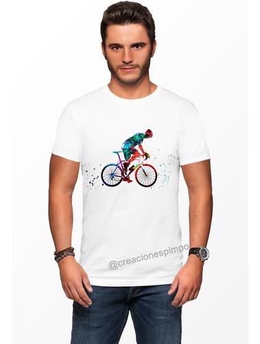 camiseta hombre ciclista explosion moda polialgodon cpr1