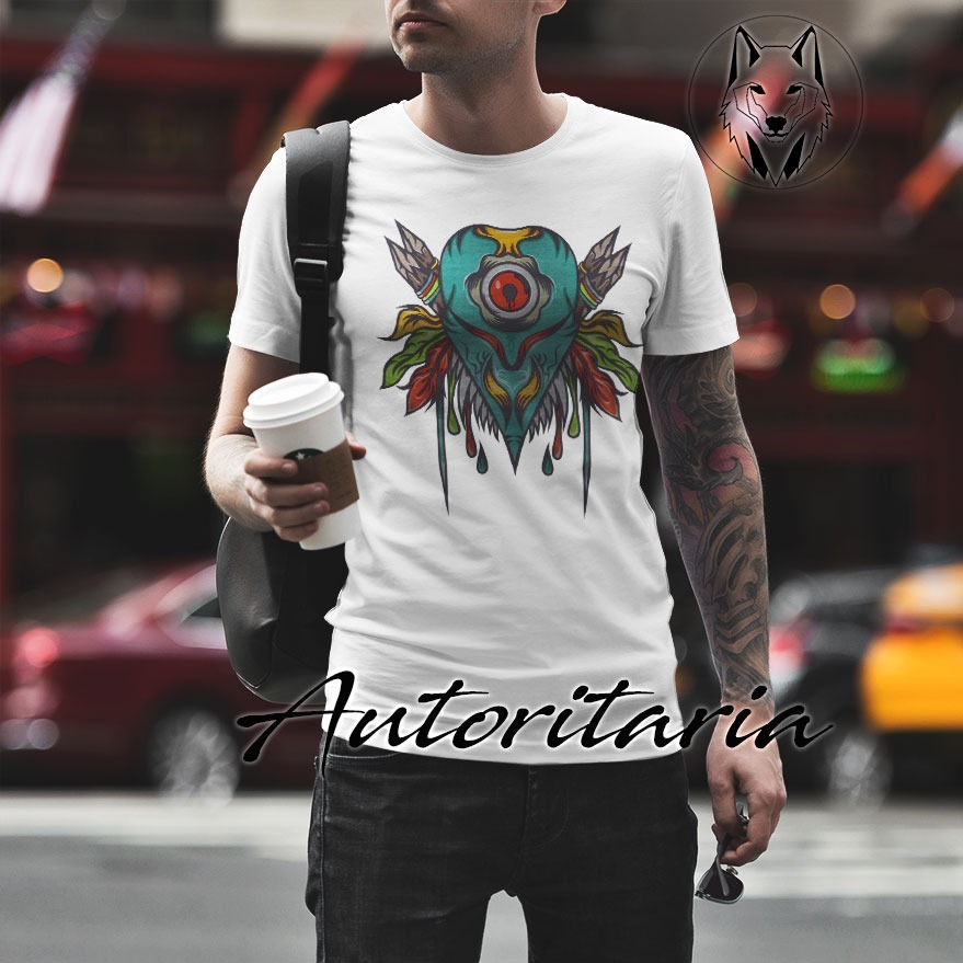 Camiseta Hombre Autoritaria K230 Hojas Dardos Corazón rCWdoexB