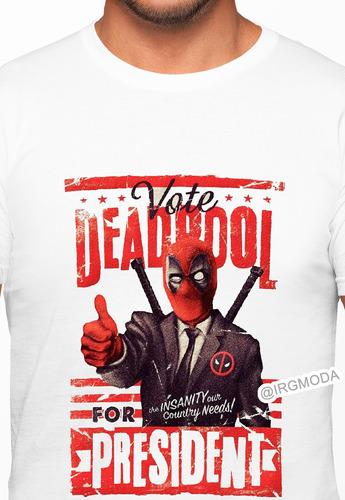 camiseta hombre deadpool moda lifestyle poliester algodon