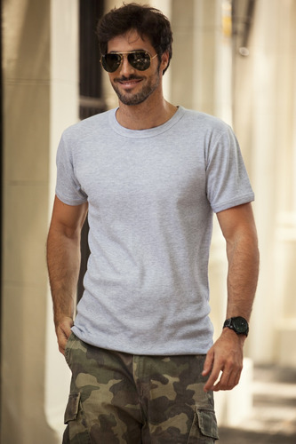 camiseta hombre interlock manga corta escote o tres ases