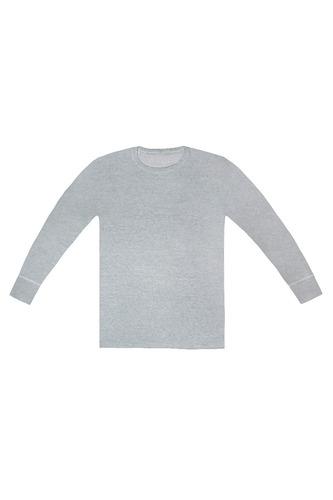 camiseta hombre interlock manga larga escote o tres ases
