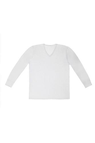 camiseta hombre manga corta/larga escote v tres ases