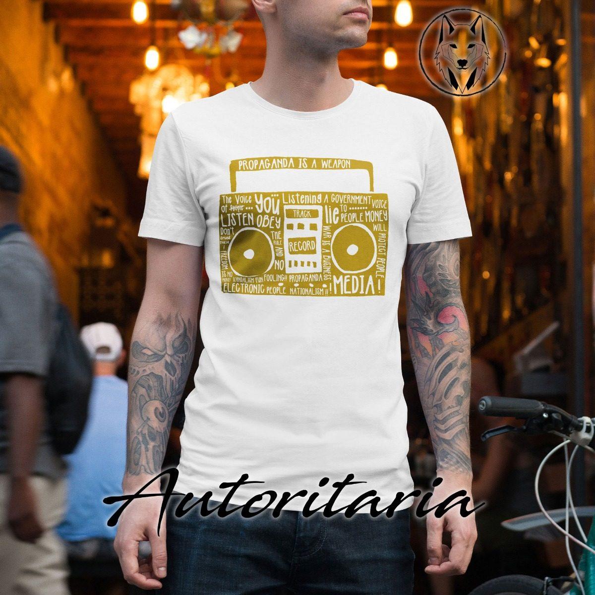 Is J67 A Camiseta Propaganda Weapon Autoritaria Hombre 8PN0wknXO
