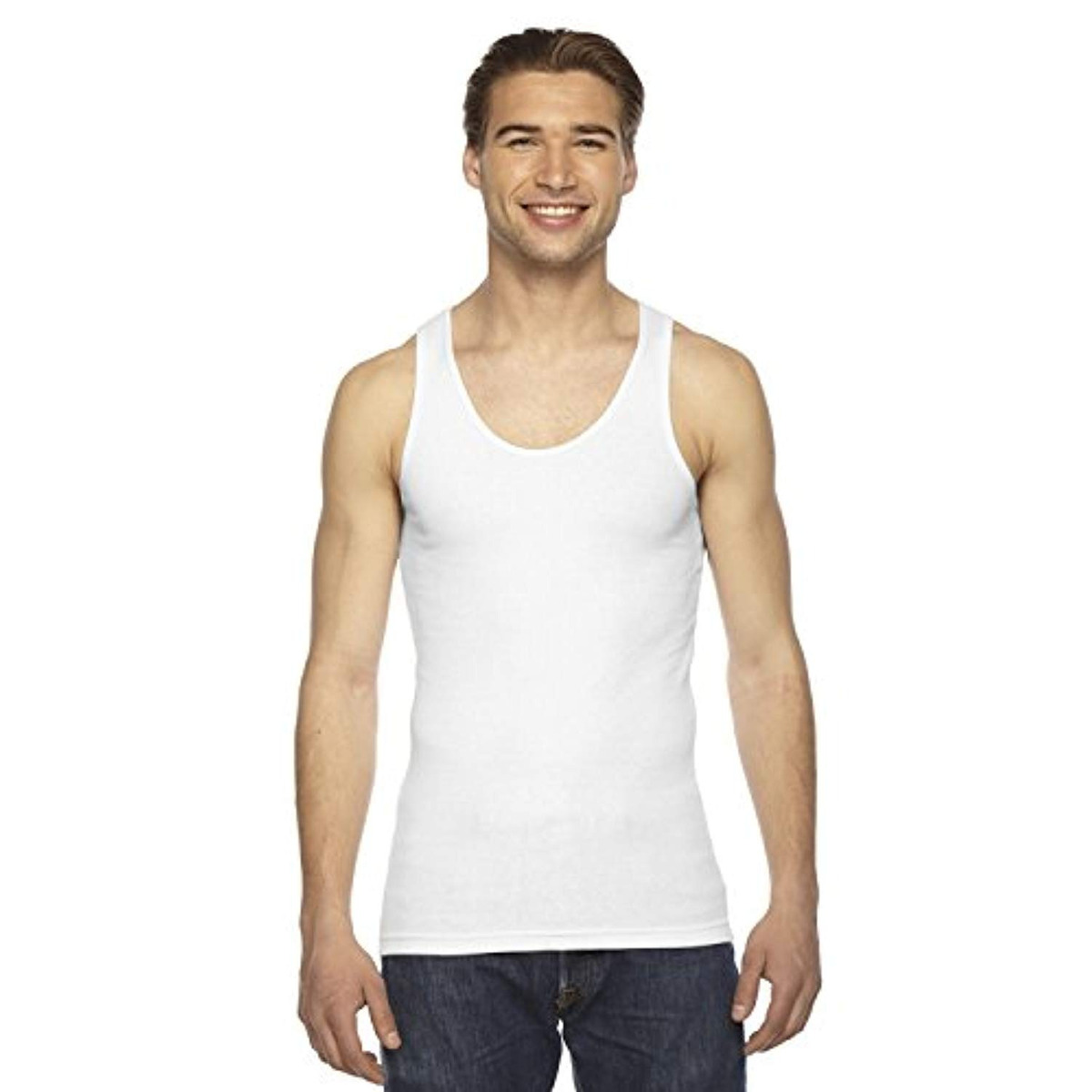 online here great quality uk cheap sale Camiseta Hombre Ropa Americana Tank Top Size S Blanco