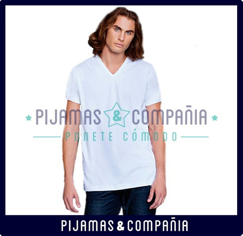 camiseta hombre v tres ases interior interlock invierno sky