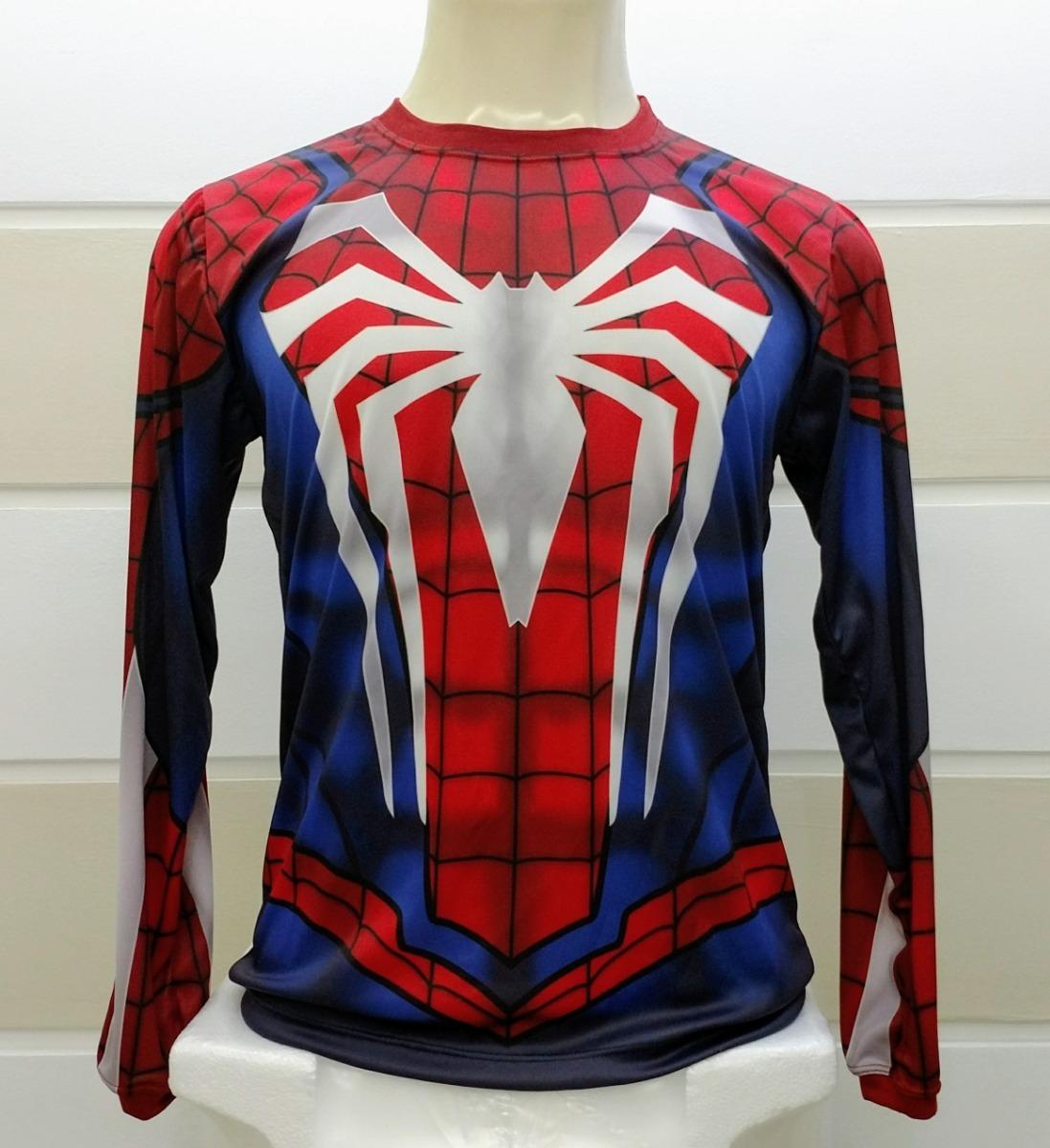 e375e3ae4 camiseta homem aranha game ps4 manga longa. Carregando zoom.