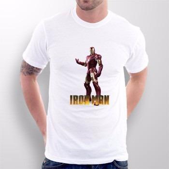 camiseta homem de ferro - iron man - envio para todo brasil