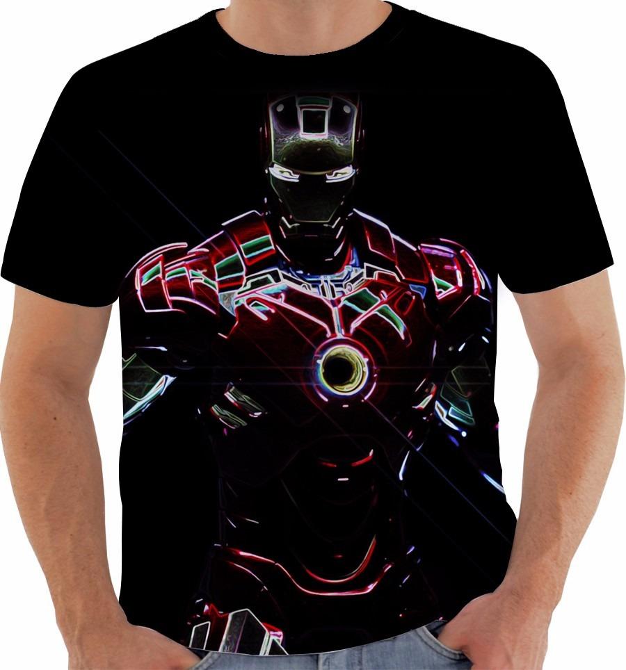 af2f79aadf Camiseta Homem De Ferro Iron Man Tony Stark Marvel M007 - R  49