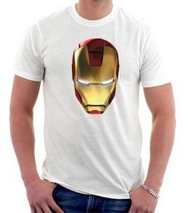 camiseta homem de ferro - iron man - vingadores - capacete