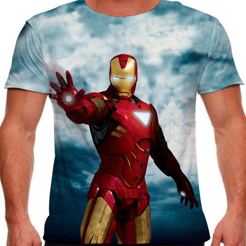 camiseta homem de ferro mark 6 masculina