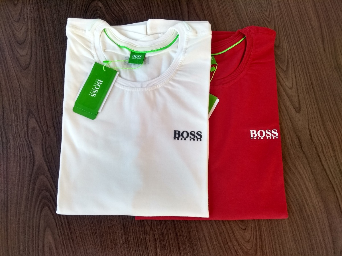 camiseta hugo boss emborrachada importada peruana kit de 2. Carregando zoom. 12bacf2639f