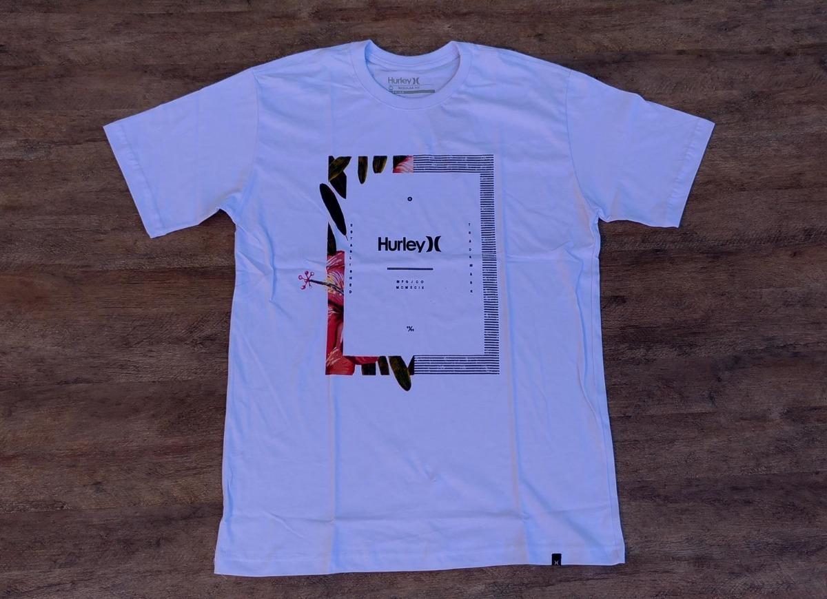 camiseta hurley bloom branca - camisa masculina. Carregando zoom. 21908c4e90f