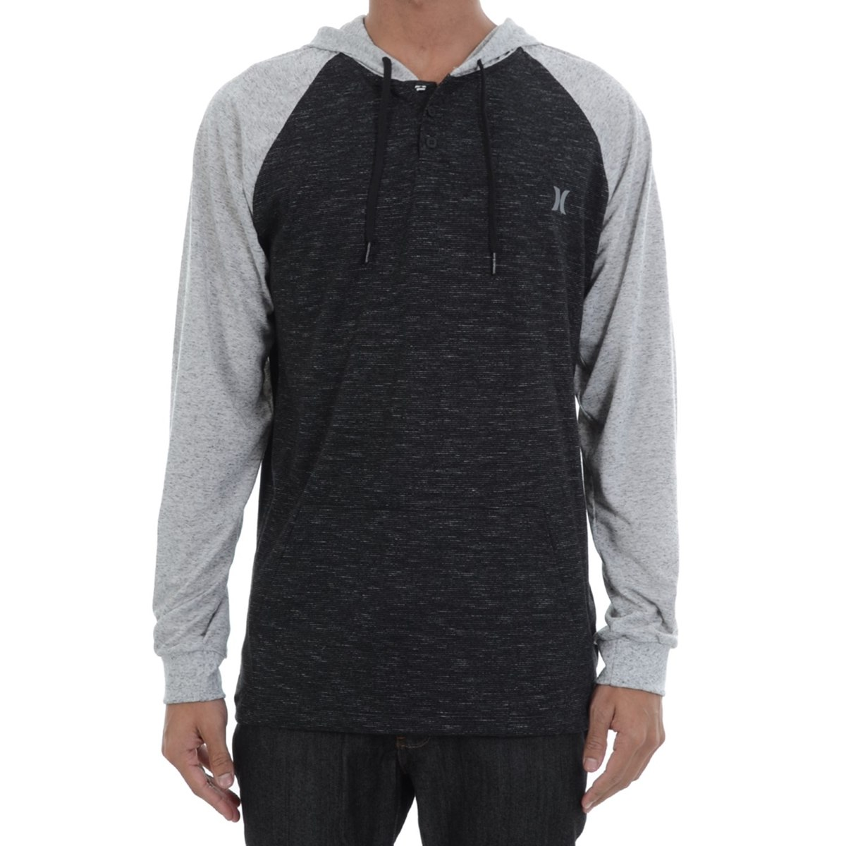 52fee1cc26c53 camiseta hurley manga longa raglan sublimada preta. Carregando zoom.