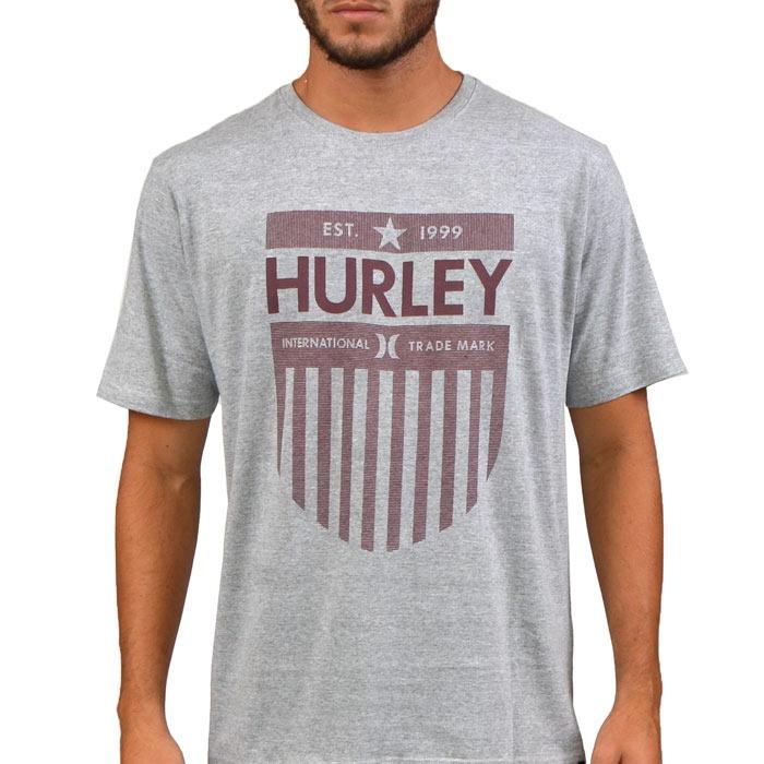 654dd1c42e Camiseta Hurley Milestones Cinza - R  99