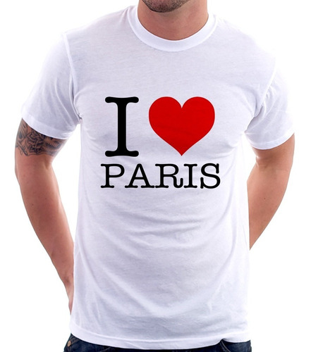 camiseta i love paris