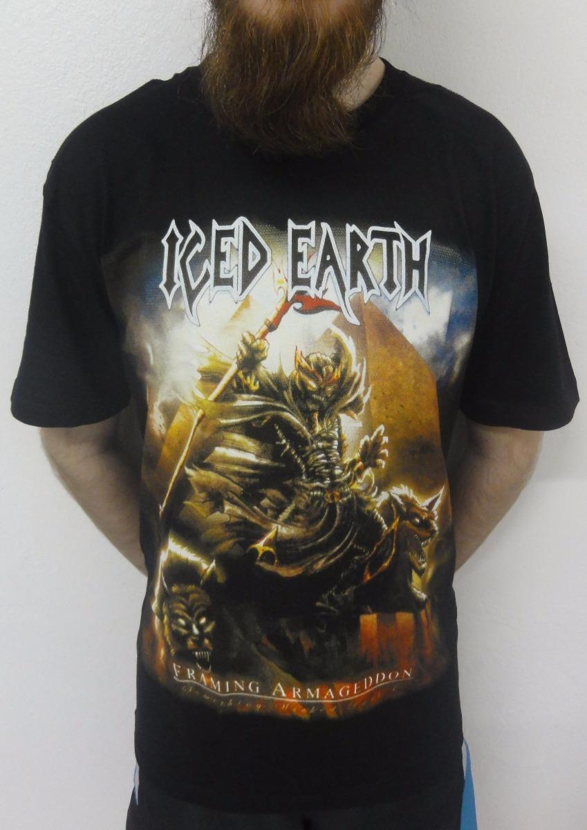 Camiseta Iced Earth - Framing Armageddon - R$ 35,09 em Mercado Livre