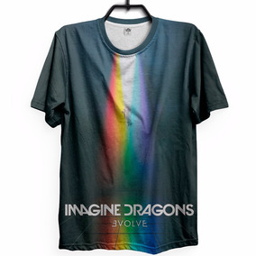 097e8312a7 Camiseta Imagine Dragons - Camisetas Manga Curta no Mercado Livre Brasil