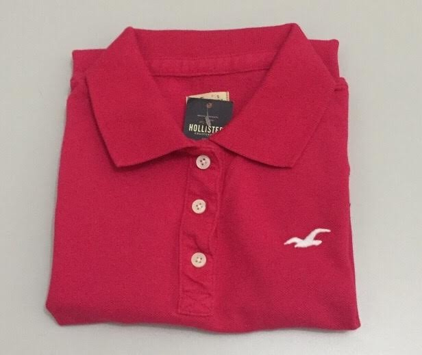 Camiseta Importada Gola Polo Feminina - Hollister Original - R  138 ... 95380d58f0779