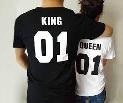 camiseta impresa de parejas