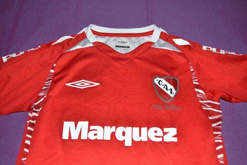 camiseta independiente 2005. niño