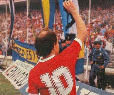 camiseta independiente retro 1988 bochini mita campeón