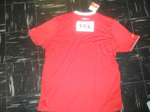 camiseta independiente tcl talle xl 100% original unica