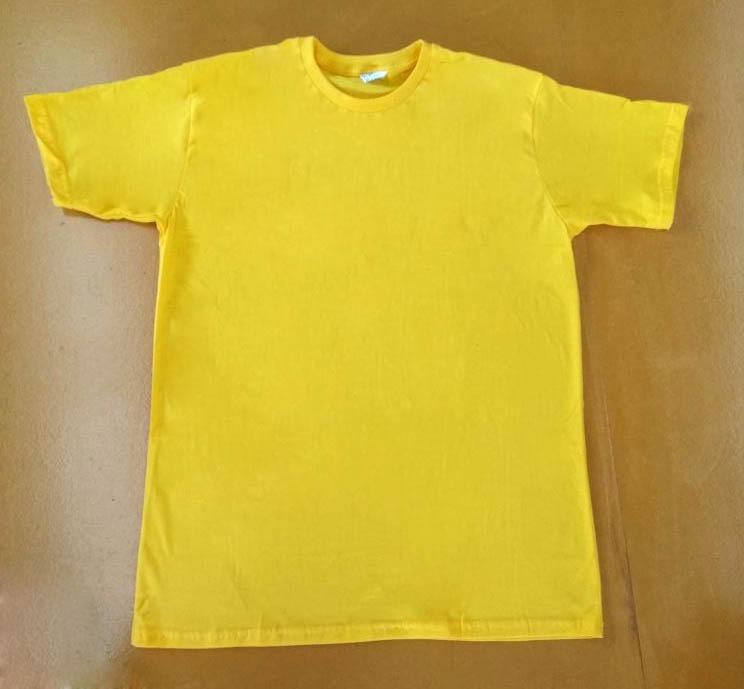 611c036863 Camiseta Indice Malhas Amarelo Canário 100% Algodão 30.1 - R  17