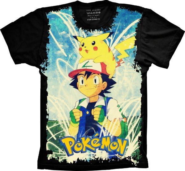 f769da30bd Camiseta Infantil Anime - Pokémon Ash - R  46