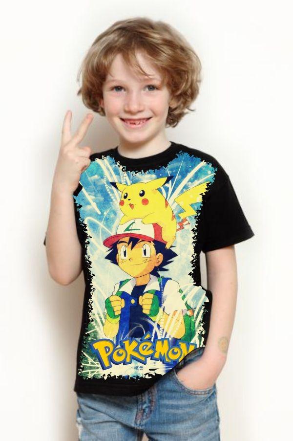 5af3d3c784 camiseta infantil anime - pokémon ash. Carregando zoom.