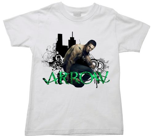 camiseta infantil arqueiro verde arrow serie oliver queen 05