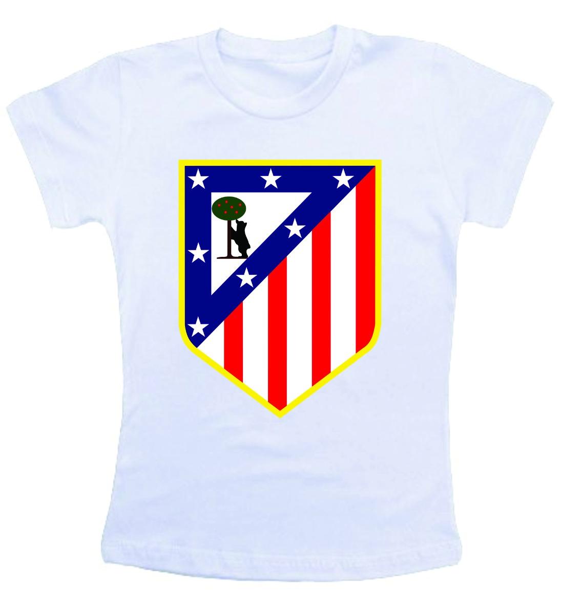 camiseta infantil - atletico de madri futebol. Carregando zoom. 9e0ebd82e5fb3