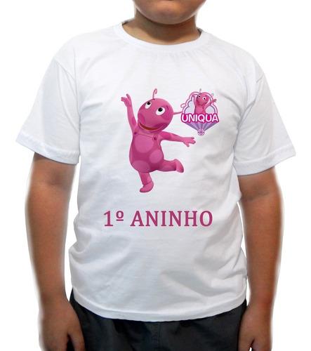 camiseta infantil backardigans oniqua - 1º aninho