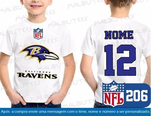 8745a4edc Camiseta Infantil Baltimore Ravens Nfl Futebol Americano - R  34
