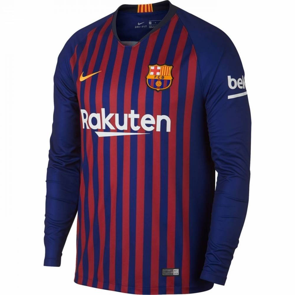 camiseta infantil barcelona manga longa (personalizada). Carregando zoom. 8349a5f7411cb