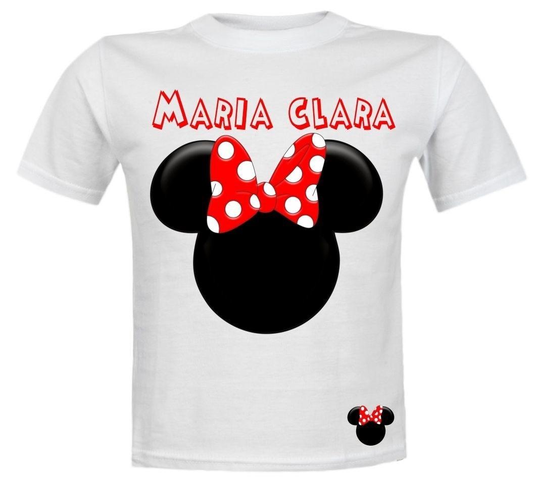 70966d242 camiseta infantil branca personalizada minnie mickey disney. Carregando zoom .