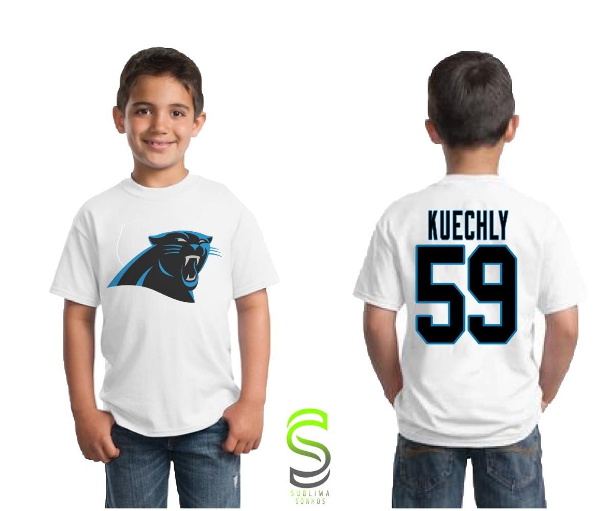 b866856e50494 camiseta infantil carolina panthers kuechly nfl. Carregando zoom.