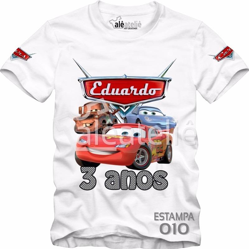 camiseta infantil carros disney mcqueen mate camisa blusa. Carregando zoom. db9f6d86b042e