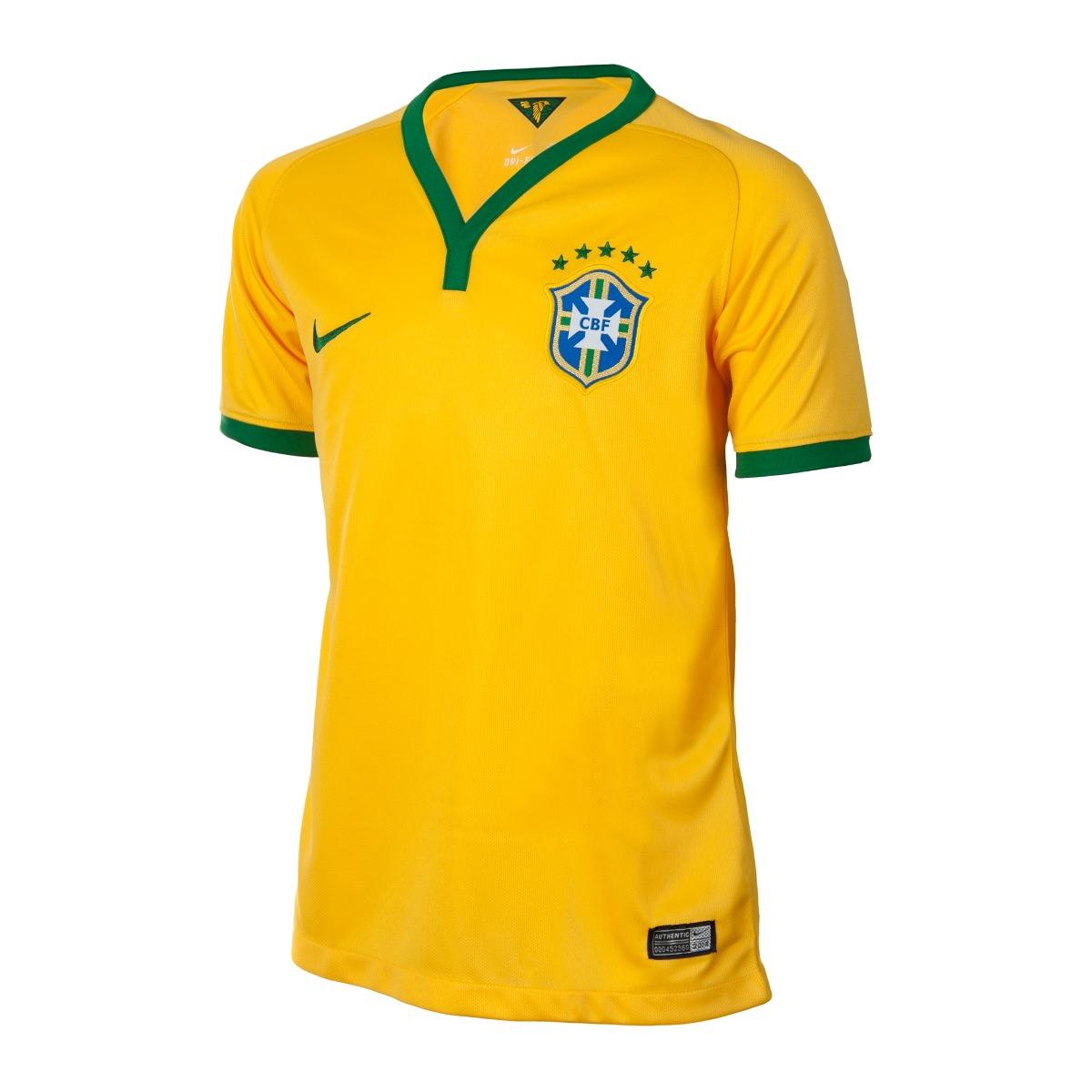 Camiseta Infantil Cbf Brasil Oficial De R  179 ba78b75fbb65a
